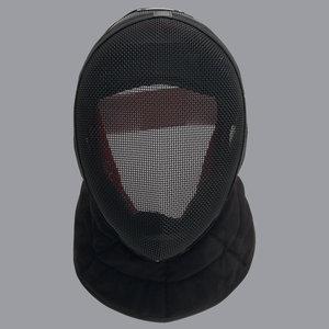 "Allstar universal mask Inox FIE ""Comfort"" Comfort Plus 1600N,black bib"